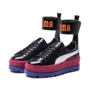 ‼️尺寸不齊‼️美國代購 FENTY PUMA  ANKLE STRAP SNEAKER 厚底鞋 增高鞋 綁帶