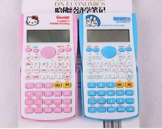 Cute cartoon student exam scientific calculator