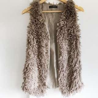 Pink Manila fur vest