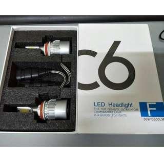 C6 Led Headlight(High Quality) H11 H (6000k WHITE )3800lumen