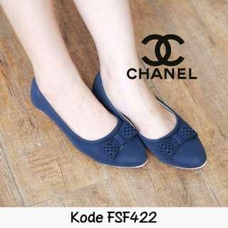 Flatshoes lokal jaitan rapi