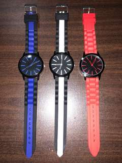 Simple Silicon Rubber Strap Watches