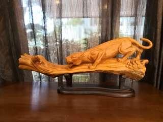The Jaguar Wood Sculpture