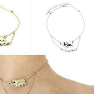 Lucky Bohemian elephant anklet bracelet