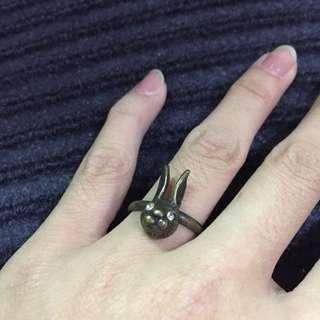 🚚 古銅色 兔子 古銅戒指