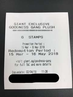 FREE: Giant Goodness Gang Plush Stamps