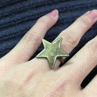 🚚 古銅色 星星 古銅戒指