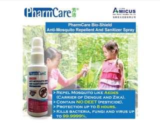PharmCare Mosquito Repellent and Sanitizer Spray