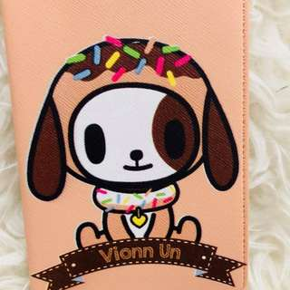Dog passport cover with names customised