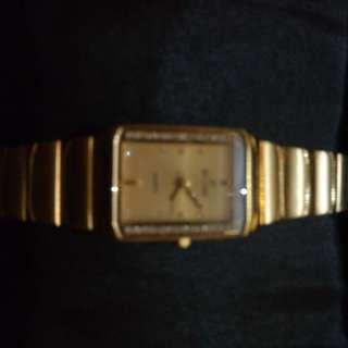 Jam Tangan wanita lapis emas dan diamond