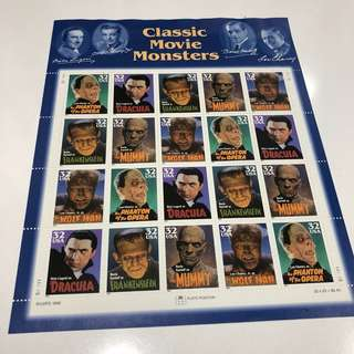 movie monsters stamps