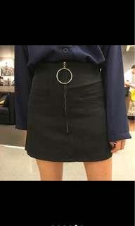 🚚 新款韓款性感美腿大圓環拉鏈一片式半身裙(預購)