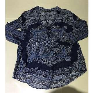 Zara 副牌 Massimo Dutti 絲質長袖上衣