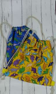 Dino toddler's drawstring bag