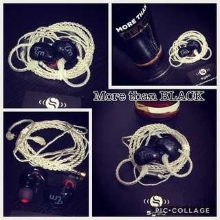 缺貨中🎱黑魂🎱八單元重低音銀線耳機