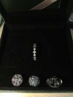 pandora ring & charms