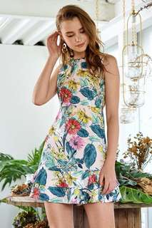 Theclosetlover Fleur Printed Dress in size L