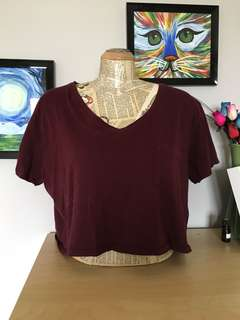 Garage Burgundy Crop Top