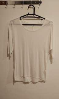 Uniqlo White Half Sleeves