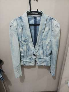 REPRICED! Washed Maong Blazer