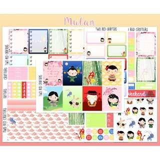 Mulan || Planner Sticker Kit for Erin Condren Vertical Life Planner