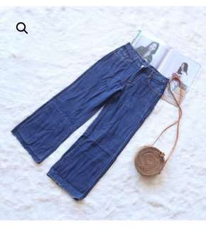 Celana sidelist Boyfriend cullotes jeans