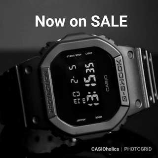 Now on sale! Rare Casio G-Shock Black out DW-5600BB