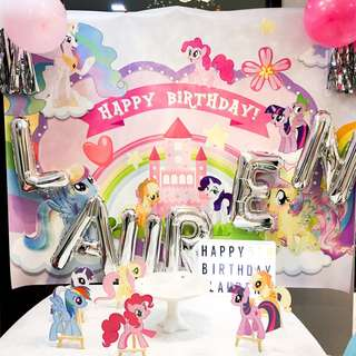 My Little Pony Party Supplies Banner & Decor Props for MLP Dessert Table Rent Rental