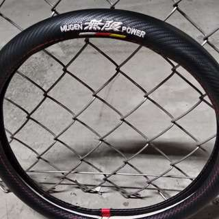 Mugen carbon fiber finish steering wheel cover