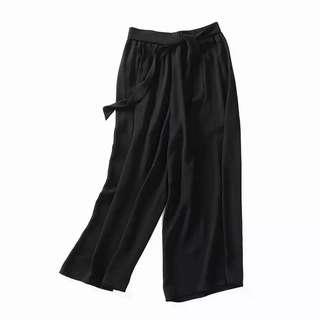 (新品)夏季寬版雪紡褲