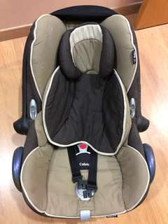 Maxi Cosi Cabrio Fix and Happy Flowers Car Seat                                 2 for $100
