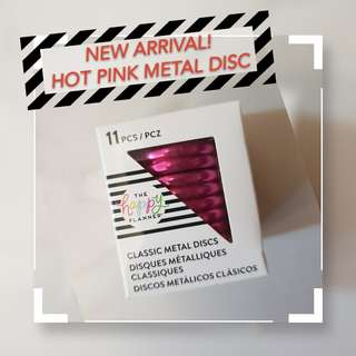 New! Classic Happy Planner Hot Pink Metal Disc