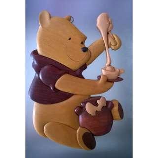 Winnie the Pooh木製掛飾