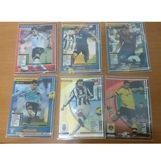 WCCF IC 2011-2013 Soccer Cards 足球卡 6張