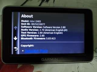 Garmin GPS nuvi 2465 with box