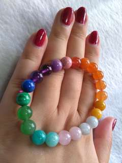 🎍$68 Special Promo - Natural A Little Goodness of Everything Super Lucky Multi Variety Crystal Bracelet  多彩水晶 手链🎍