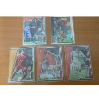 足球卡 International Clubs 2006-2009 Soccer Cards  5張