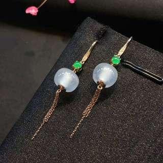 🍀緬甸包A冰種轉運珠耳環🍀