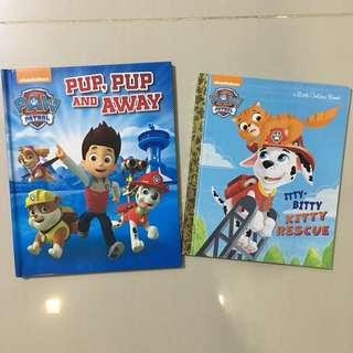 $5 for 2 Paw Patrol Story books