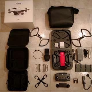 DJI 大疆 SPARK主機 , 配件及機袋