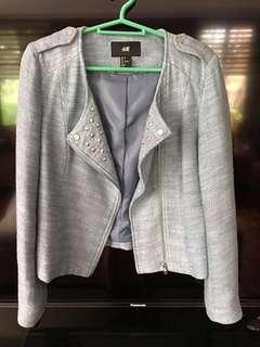 H&M studded light blue jacket