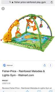 Fisher Price Rainforest Melodies & Lights Baby Play Gym