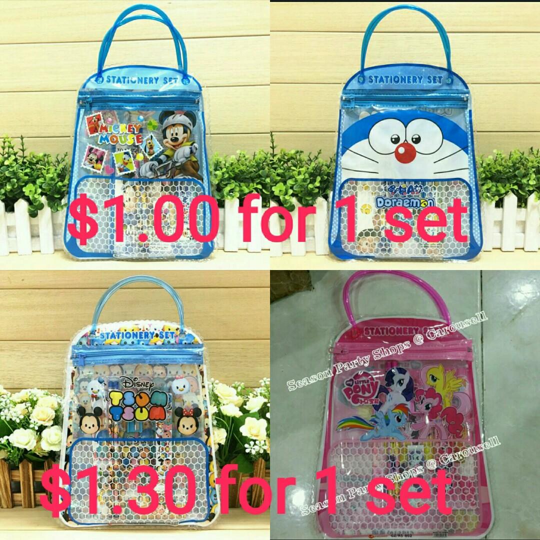 Doraemon Goody Bags Bag Tas Emoticon Or Each In Stationery Set Disney Design Kids 1080x1080