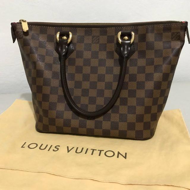 b717a0ec3e AUTHENTIC LOUIS VUITTON TOP HANDLE ZIPPER BAG IN DAMIER CANVAS ...