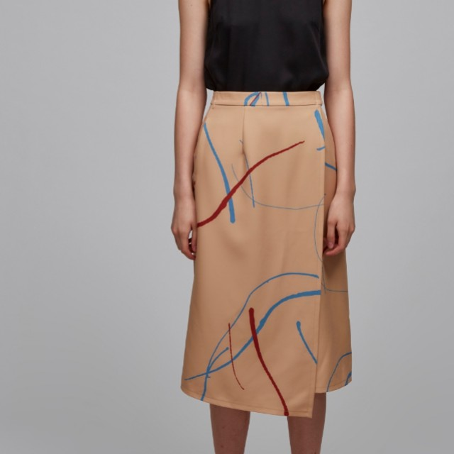 BNWT Our Second Nature Canvas Overlap Skirt