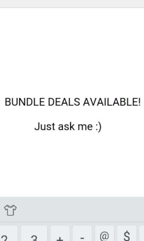 Bundle deals available!