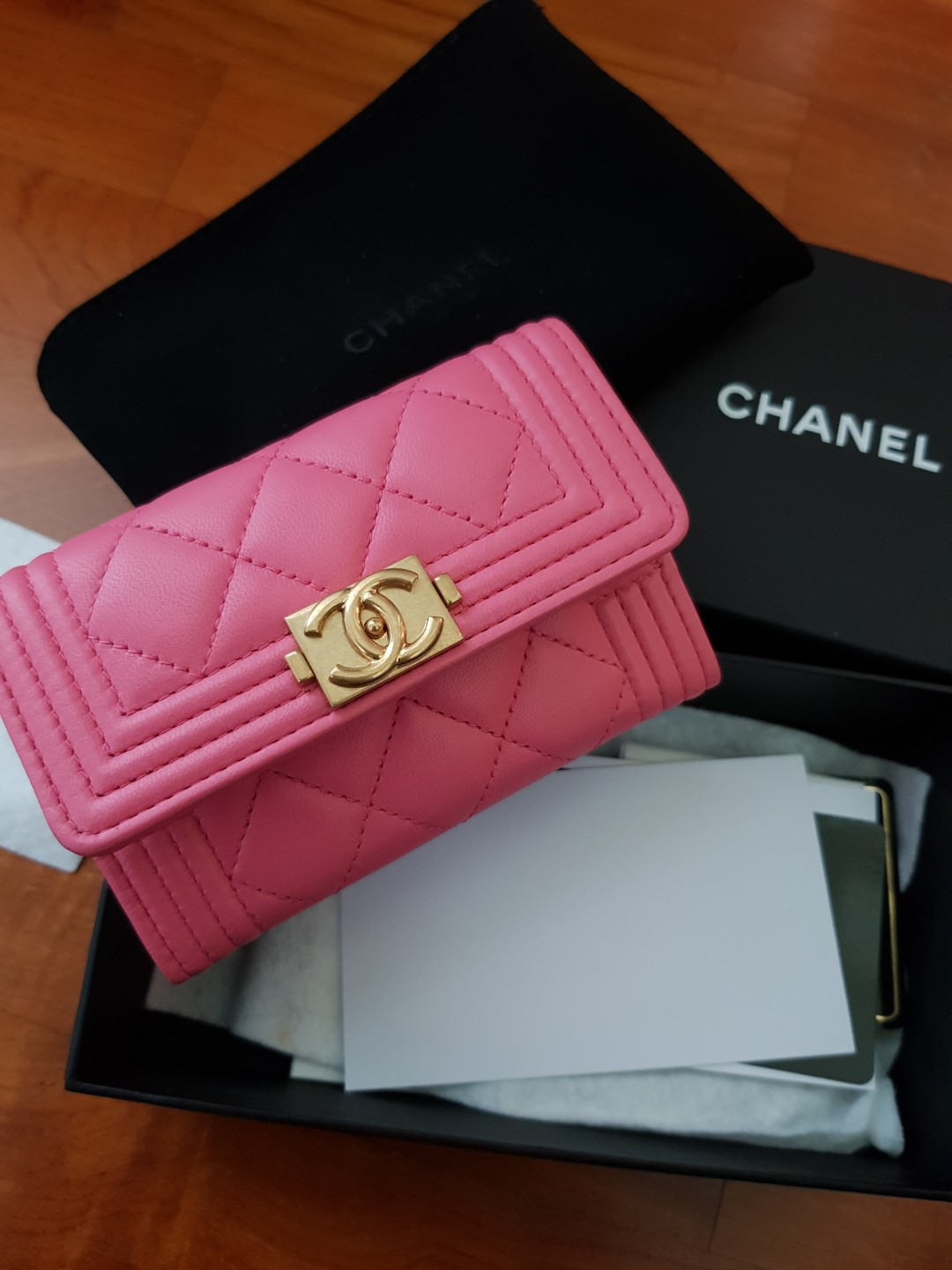 bfef85f89b38 Chanel Boy cardholder, Luxury, Bags & Wallets on Carousell