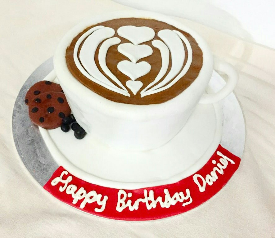 Cup Of Coffee Themed Cake Food Drinks Baked Goods On Carousell
