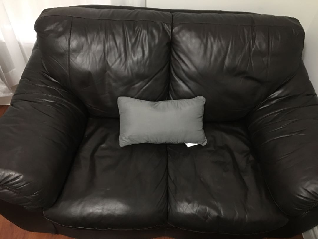 Dark Drown Leather Couch