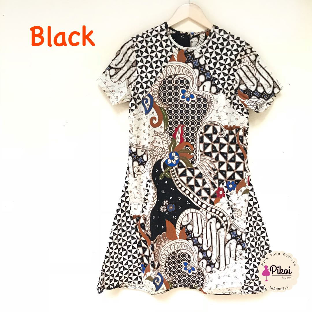 Dress Batik Modern Murah / Dress bAtik wanita kantor / pesta / pocket / 1241